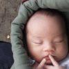 【抱っこ紐・スリング】ミニモンキー 装着のコツ ~生後3週間初外出